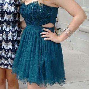 Teal Speechless dress